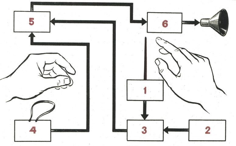 Блок-схема терменвокса: 1
